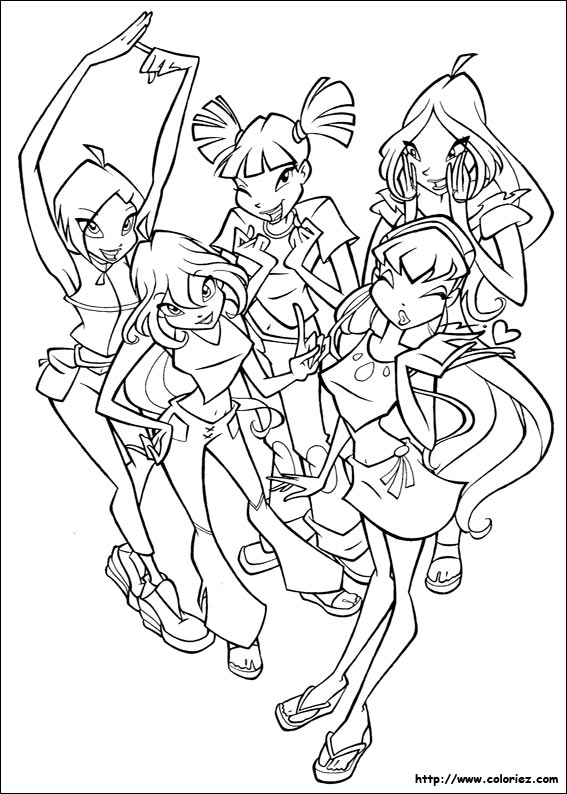 Coloriage le club des winx - Coloriage winx bloom ...