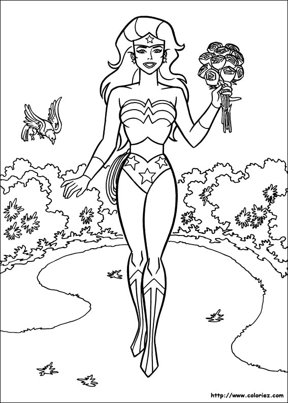 coloriage a imprimer wonder woman