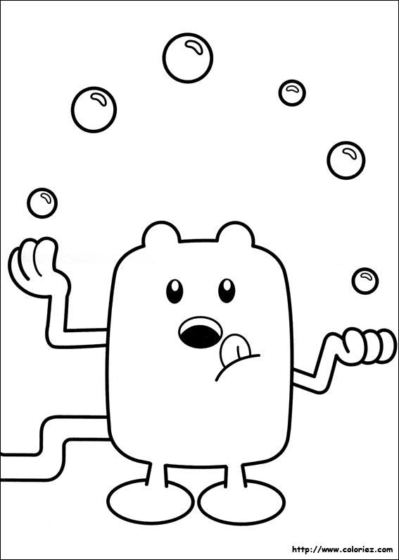 Le Coloriage Wubbzy Jongleur De La Catégorie Wow  Est
