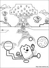 Coloriage de Wubbzy et sa super queue