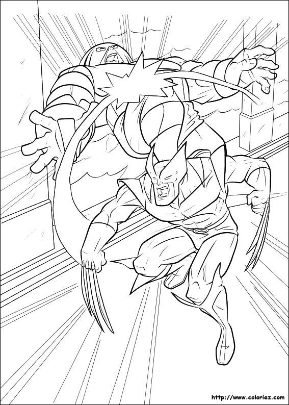 Coloriage le phrase de wolverine - Wolverine dessin ...