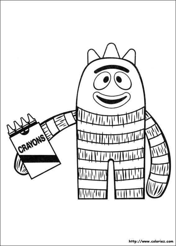 Coloriage coloriage de brobee et ses crayons for Brobee coloring page