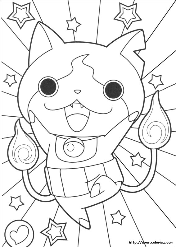 Coloriage yokai watch jibanyan for Yo kai watch coloring pages
