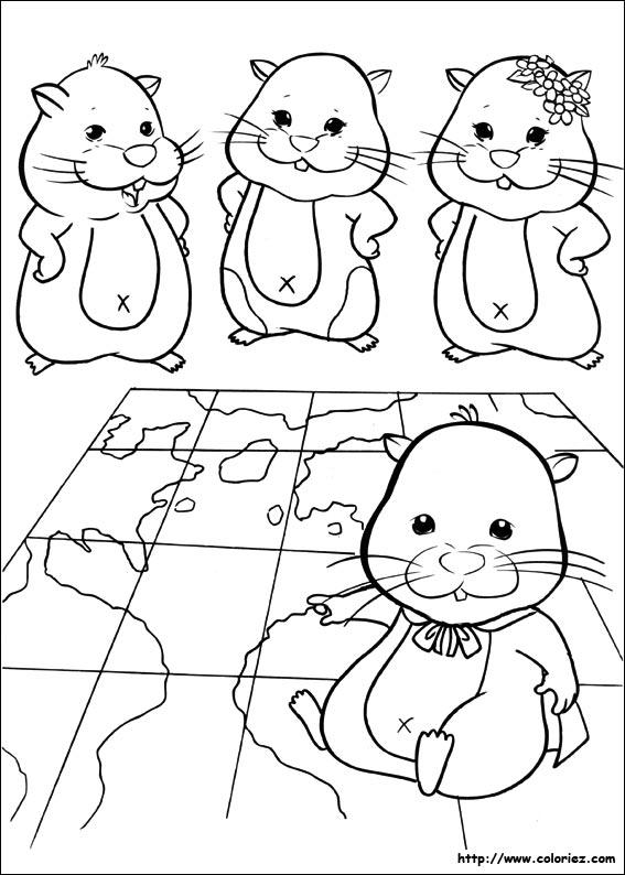 Coloriage Hamsters Autour Du Monde