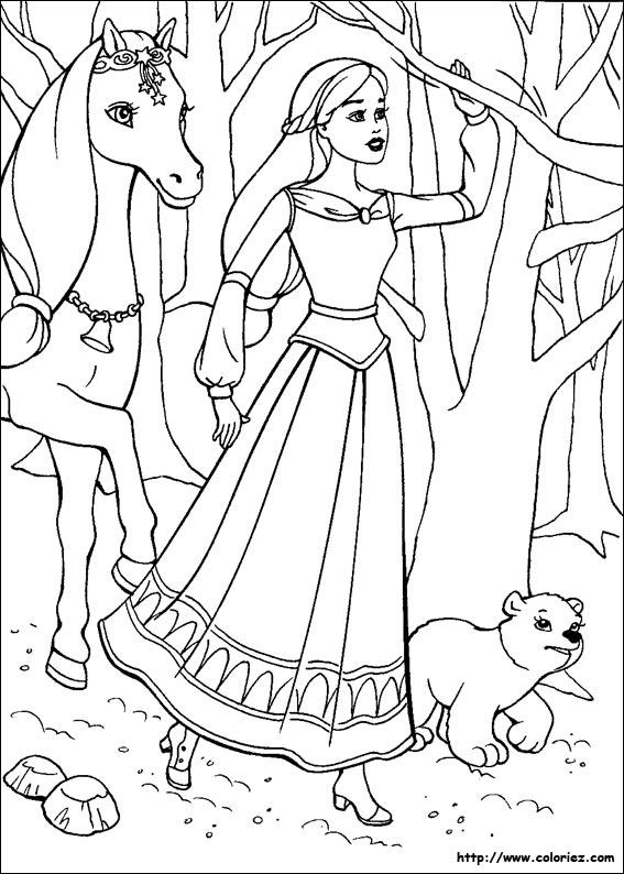 Coloriage barbie cheval magique - Coloriez com images coloriages ...