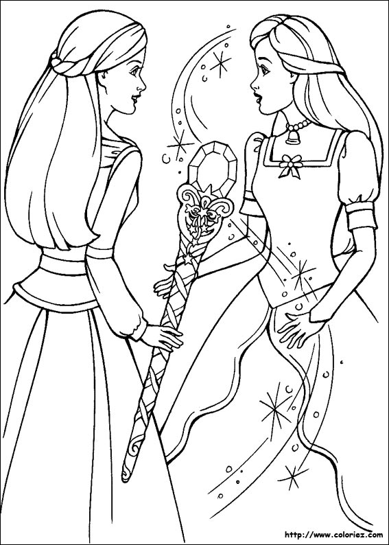 Coloriage barbie cheval magique - Coloriage magique cheval ...