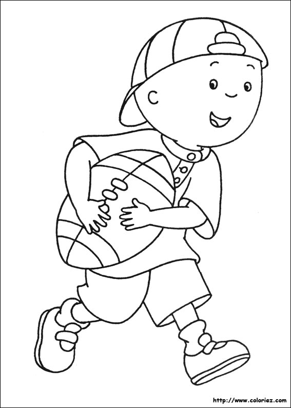 Caillou and sarah coloring pages