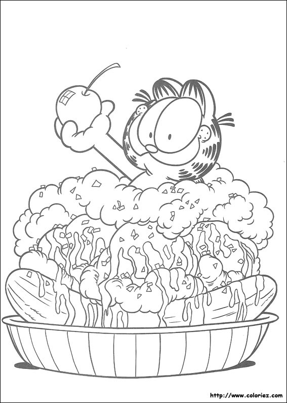 Coloriage garfield - Garfield coloriage ...
