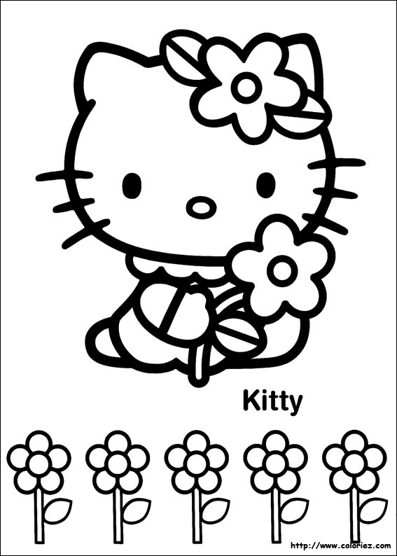 Coloriage hello kitty - Coloriez com images coloriages ...