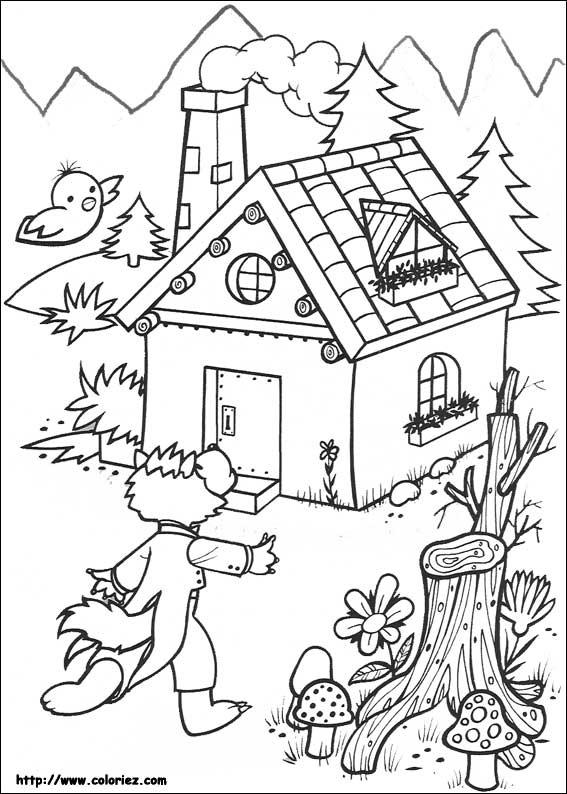 Coloriage les 3 petits cochons - Coloriage les trois petit cochons ...