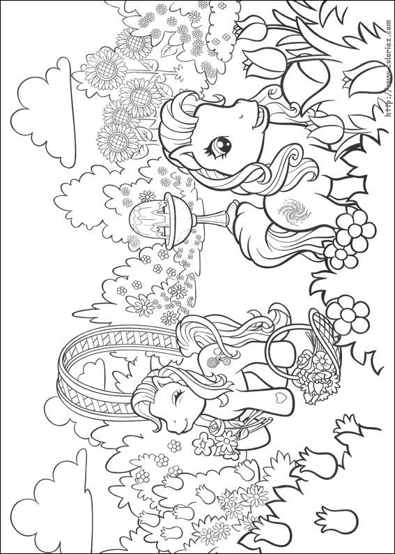 Coloriez.com - Coloriage Mon petit Poney