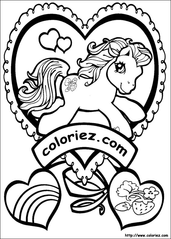 Coloriage mon petit poney - Coloriez com images coloriages ...
