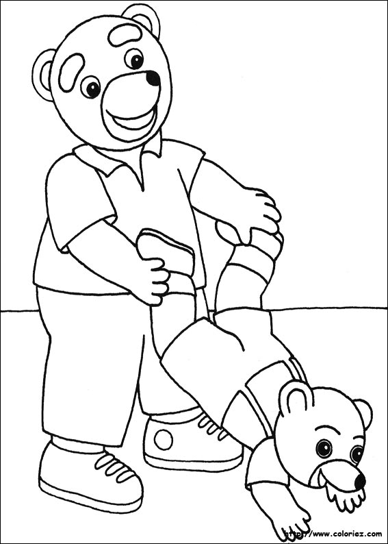 Coloriage petit ours brun - Petit ours dessin anime ...