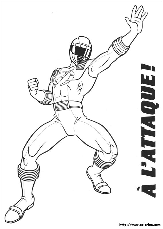 Coloriez.com - Coloriage Power Rangers