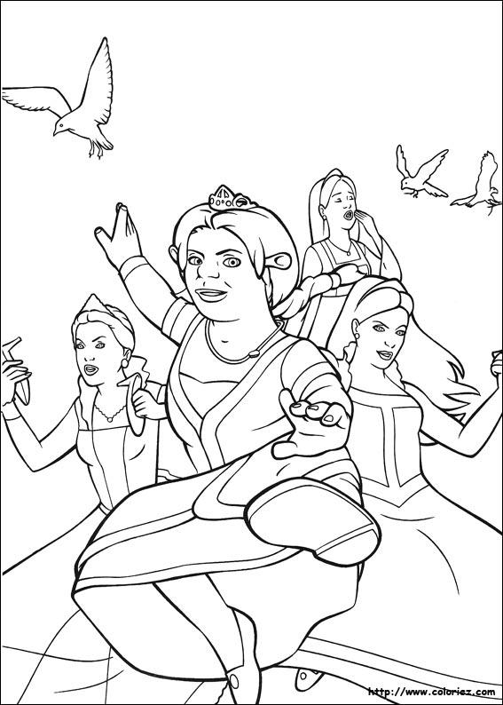 shrek the third coloring pages - coloriage shrek le troisieme