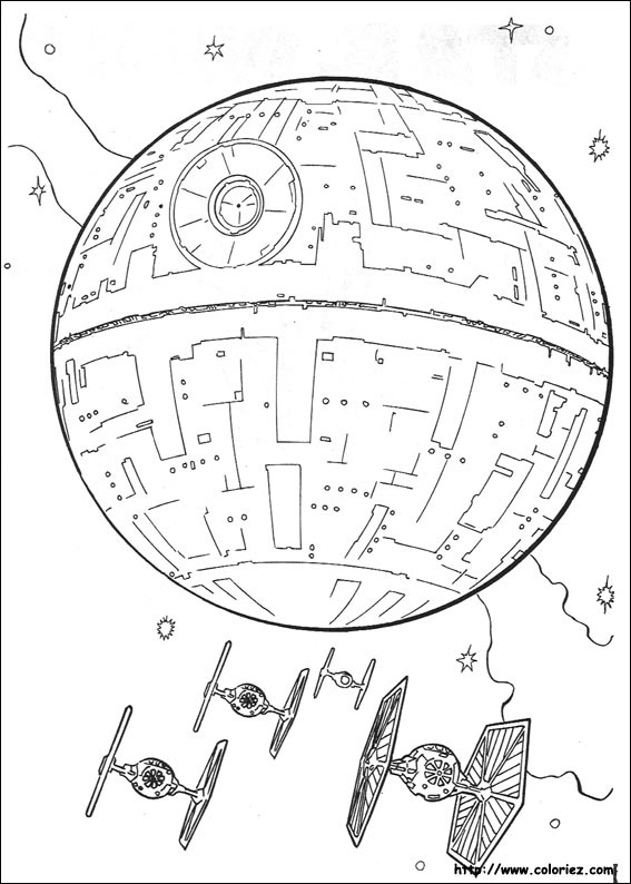 Coloriage star wars - Coloriage magique star wars ...
