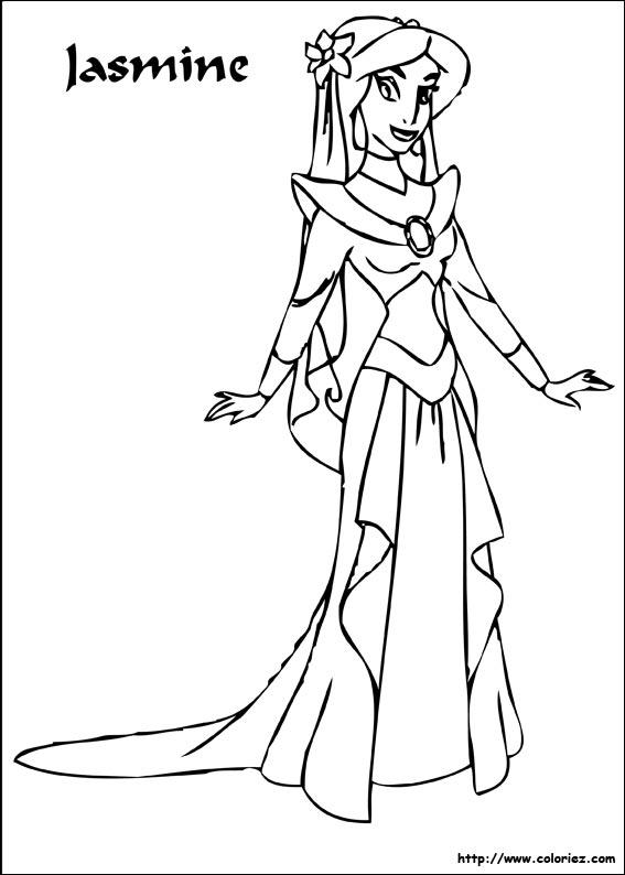 COLORIAGE Jasmine