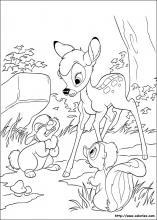 【Le plus recherché】 Bambi Et Panpan Coloriage
