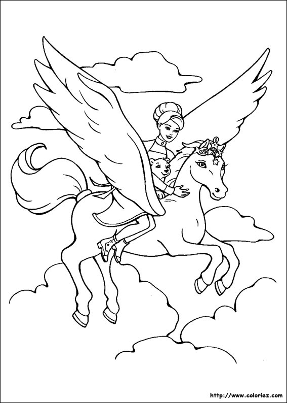 Index Of Images Coloriage Barbie Cheval Magique