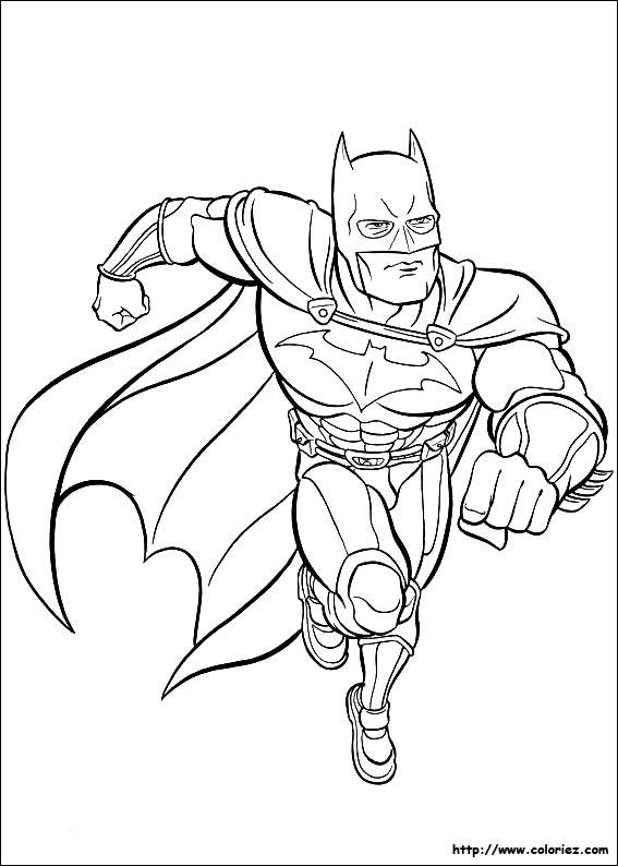 Coloriage Batman Court