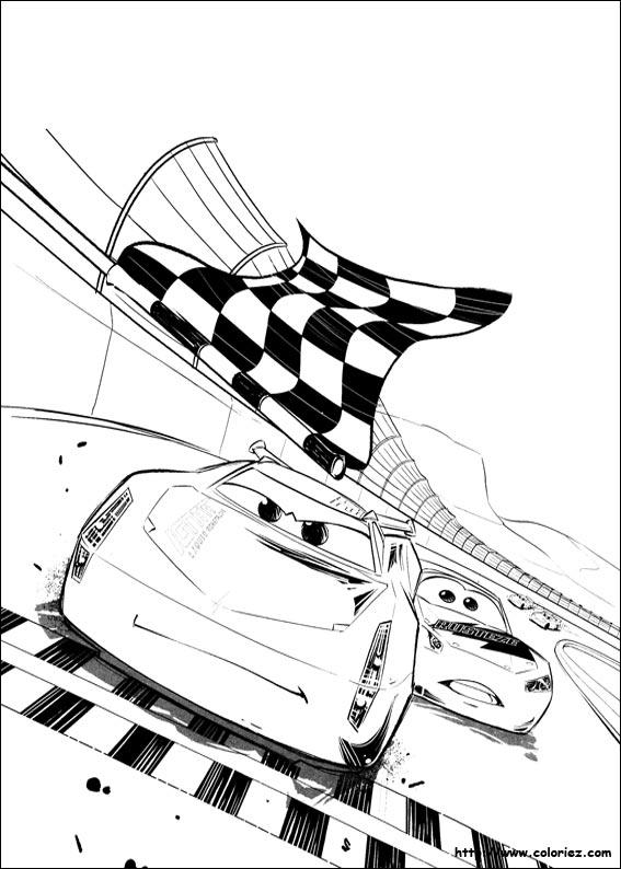 Coloriage Cars Flash Mcqueen En Ligne.Coloriage Jackson Storm Gagne La Course