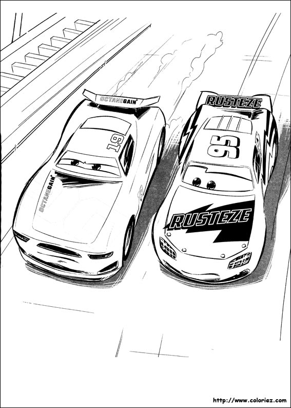 Coloriage conflit inter g n ration - Coloriage cars 3 ...