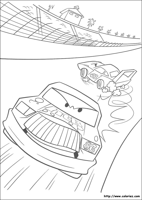 Coloriage Cars Le King.Coloriage Coloriage De Chick Hicks