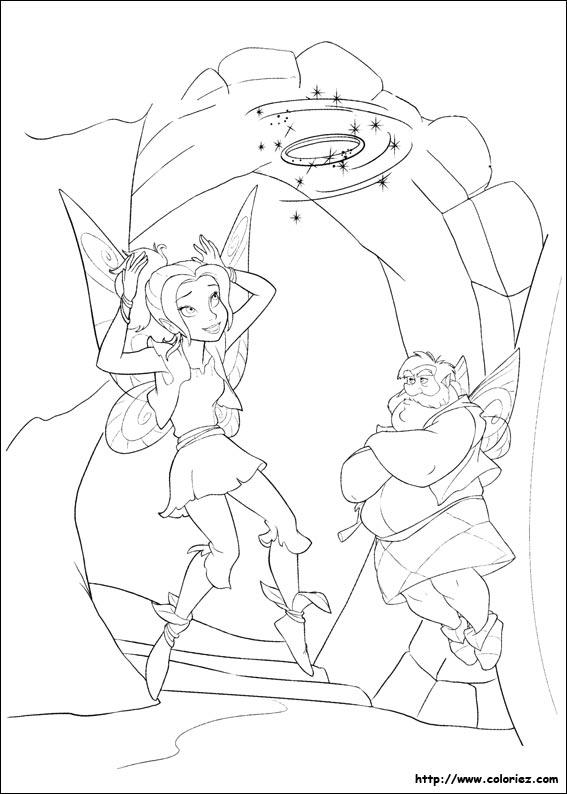 Coloriage zarina et la magie - Fee clochette et les pirates ...