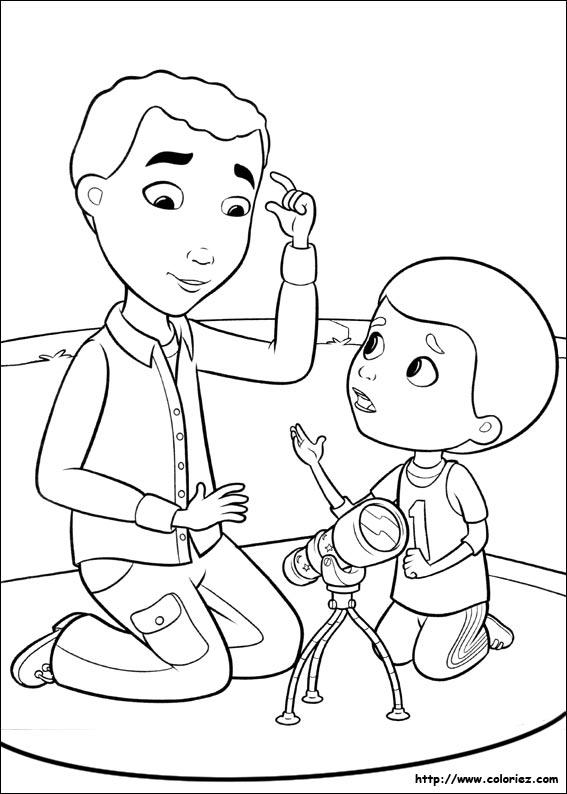 Coloriage Henry Et Son Papa
