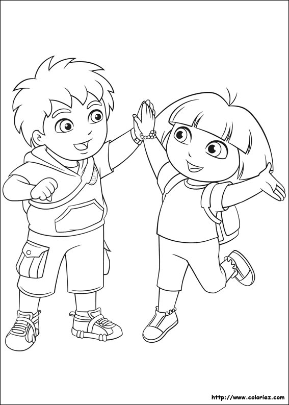 Coloriage Dora Et Diego