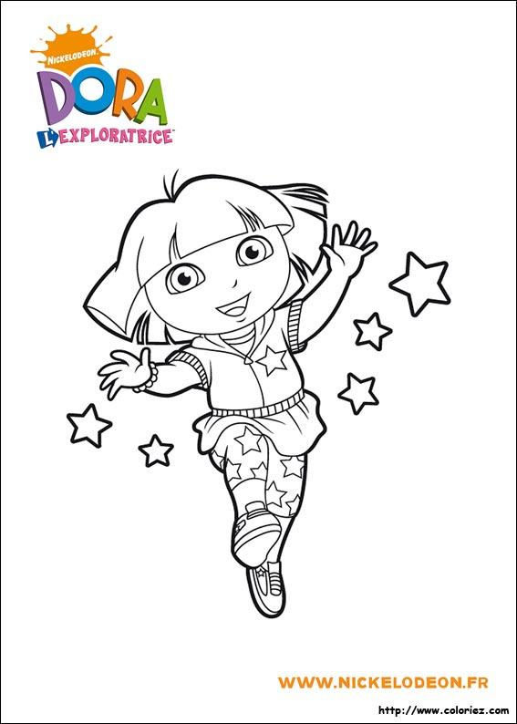 Coloriage Dora Gratuits Pour Enfants Dessin Dora A Colorier