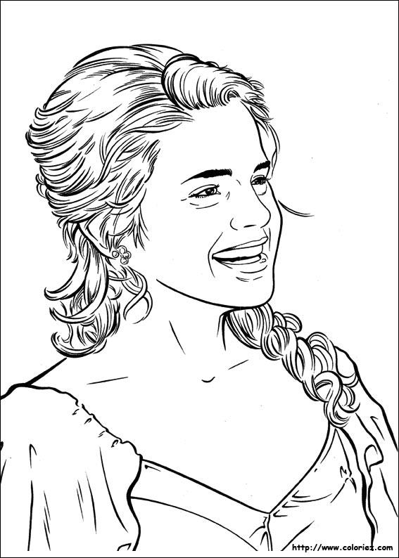 Coloriage Hermione A Imprimer.Coloriage Coloriage De Hermione Qui Rit