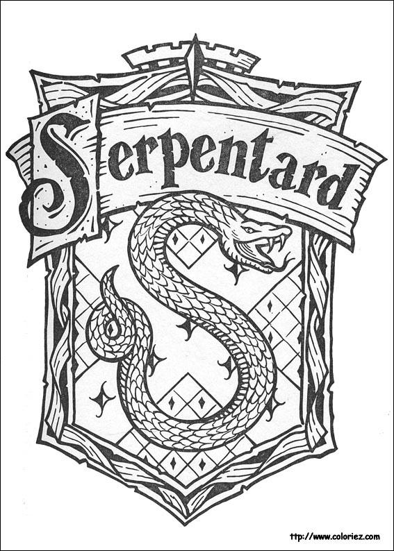 Coloriage Facile Harry Potter.Coloriage Coloriage Serpentard