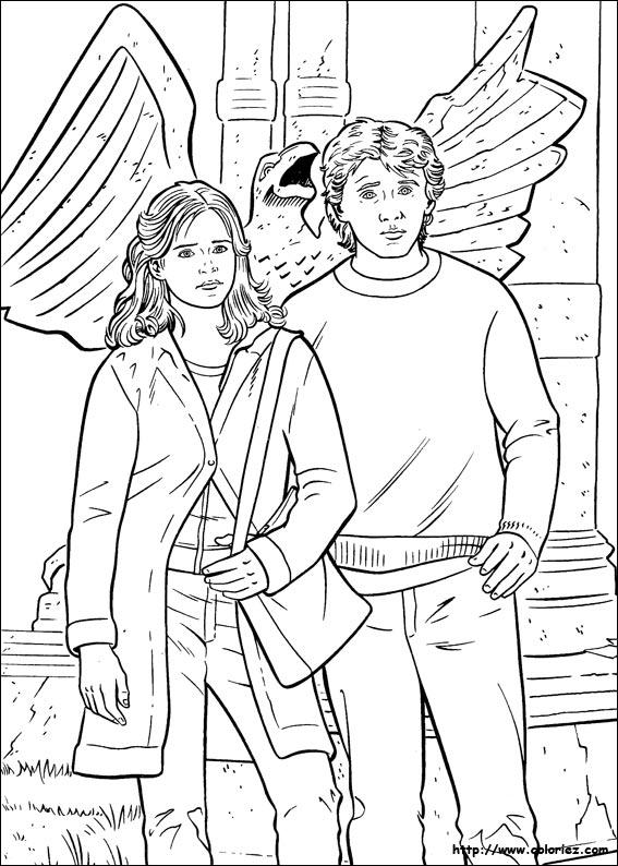 COLORIAGE - Hermione et Ron