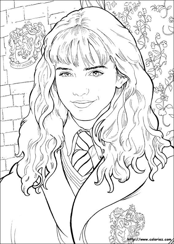 Coloriage Hermione A Imprimer.Coloriage Portrait D Hermione