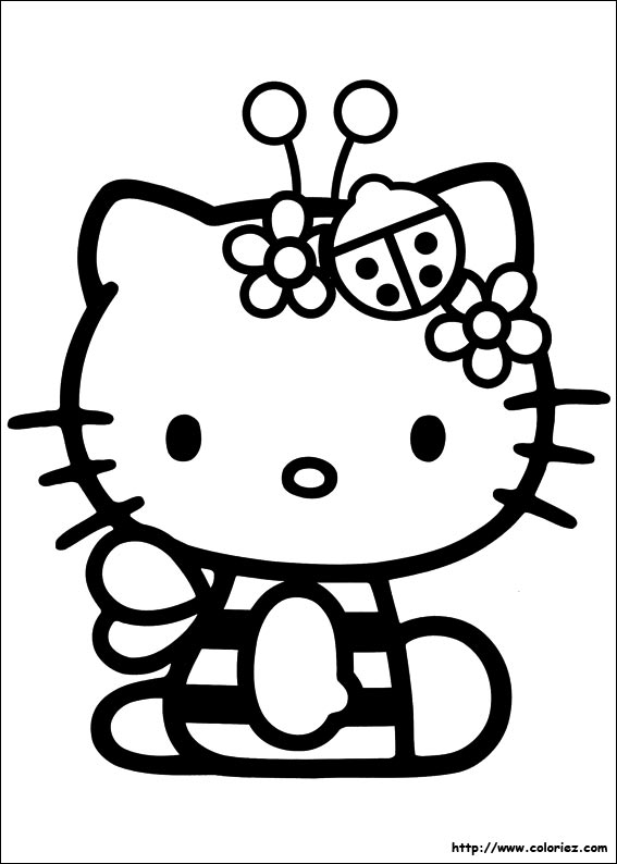 Coloriage Kitty Coccinelle