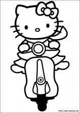 Kitty en Vespa