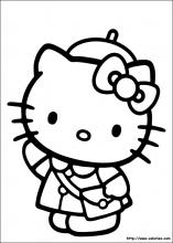 Coloriage Magique Hello Kitty.Les Coloriages De Hello Kitty