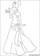 Coloriage Princesse Qui Danse Avec Prince.Coloriage La Princesse Et La Grenouille Choisis Tes Coloriages La