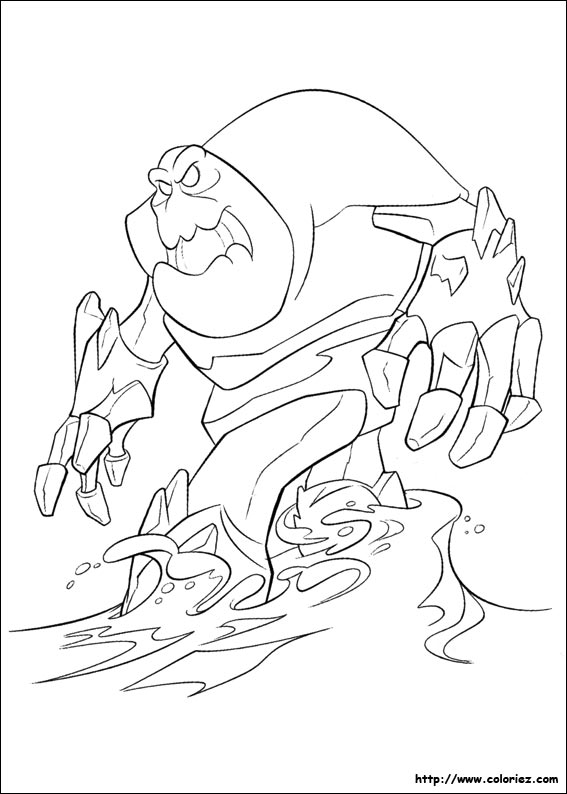 Coloriage Monstre Reine Des Neiges.Coloriage Guimauve