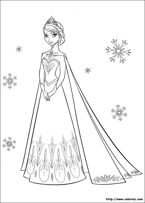 Coloriage Portrait D Elsa