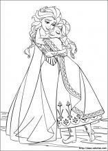 Coloriage Fille Reine Des Neiges.Coloriage La Reine Des Neiges Choisis Tes Coloriages La Reine Des
