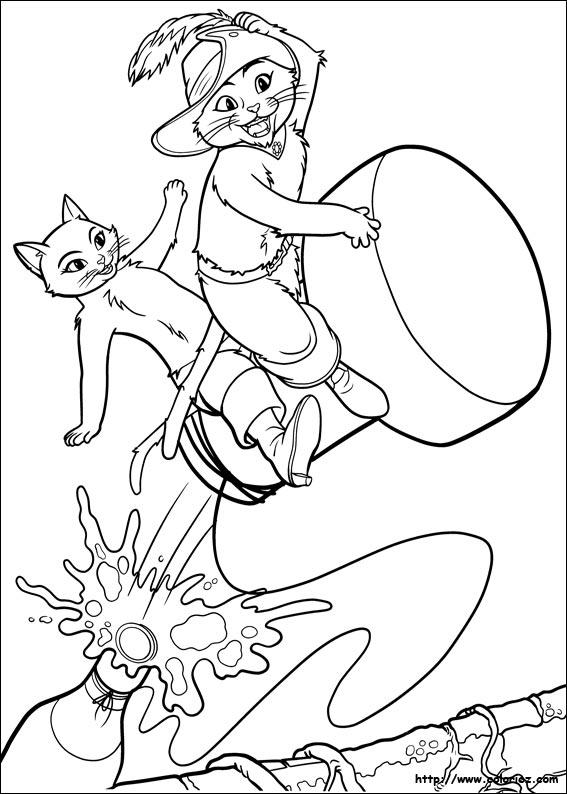 Coloriage le bouchon de champagne - Coloriage chat potte ...