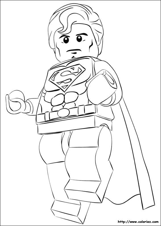 Coloriage Superman Le Beau Gosse