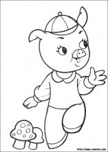 Coloriage Cochon Maternelle.Coloriage Les 3 Petits Cochons Choisis Tes Coloriages Les 3 Petits