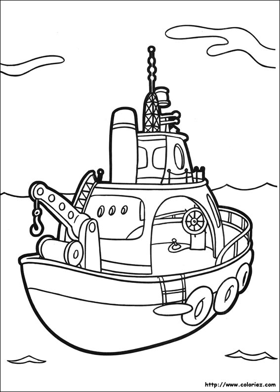 Coloriage le bateau - Dessin de bateau facile ...