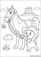 Coloriage des Mélodious au Far West