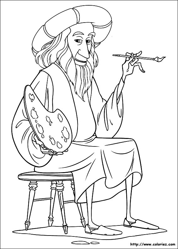 Coloriage Léonard De Vinci