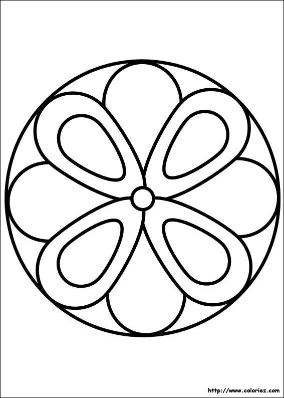 Coloriage Coloriage Mandala Fleur
