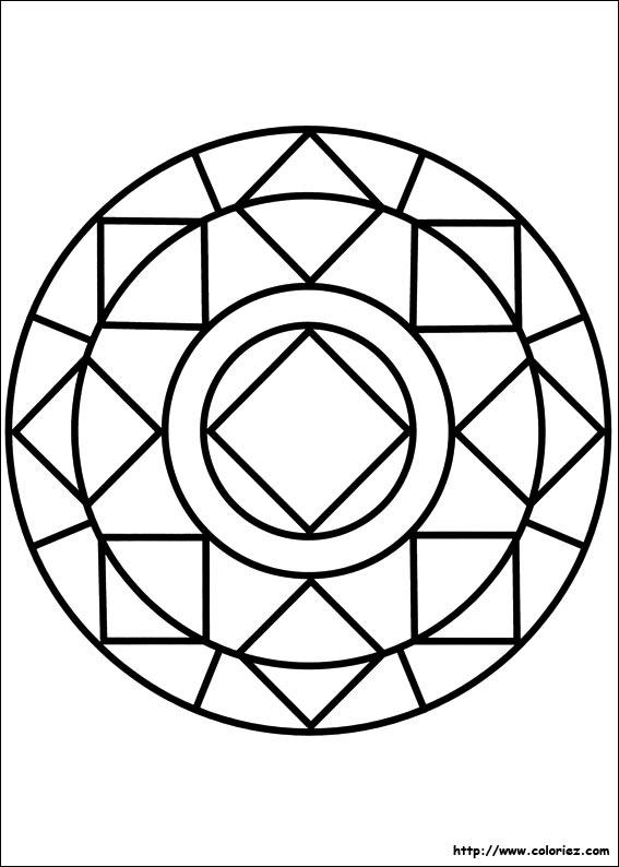 Coloriage Coloriage Mandala Diamant